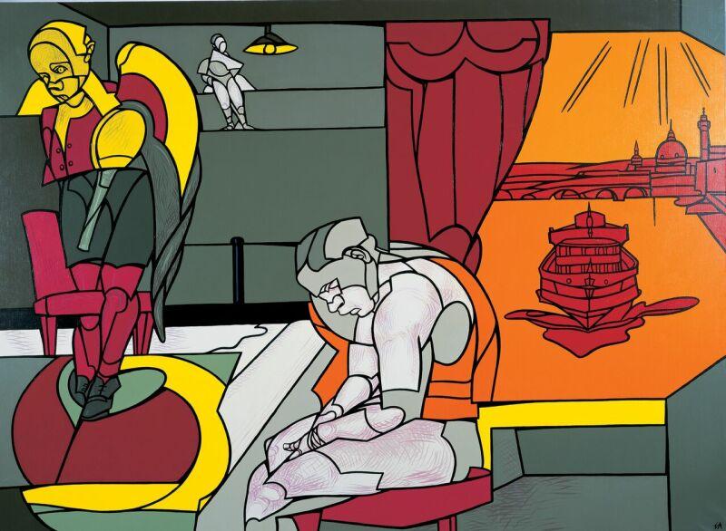 Valerio Adami, Malinconia – tema e variazioni, 2004