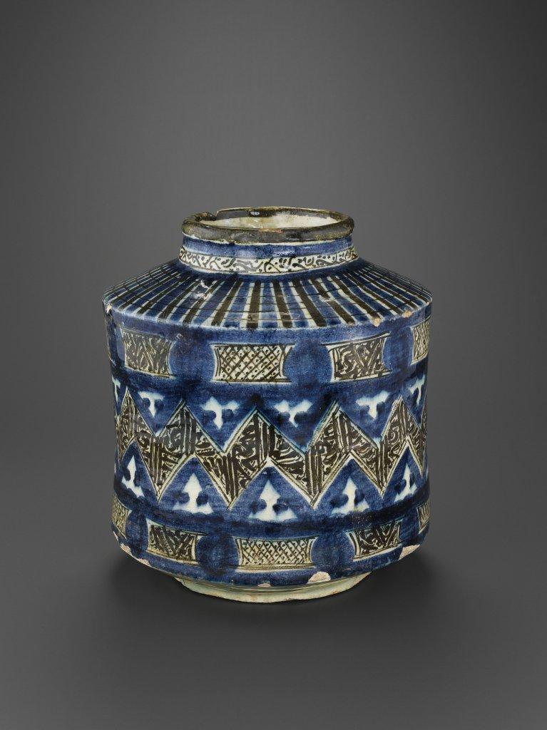 Vase à décor de frise en zigzag, Syrie, XIV – Xve siècles, Musée du Louvre