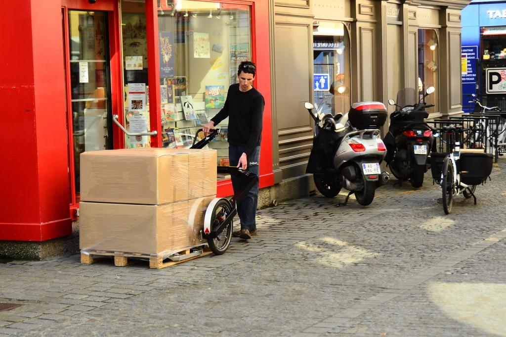 Vélo cargo et BicyLift