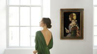 Victoria Beckham X Old Master Paintings. Circle of Leonardo da Vinci. Photo by Chris Floyd