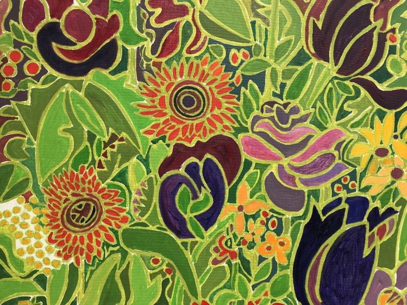 Vue de l'exposition Henri Landier, Semons des fleurs - Atelier d'Art Lepic