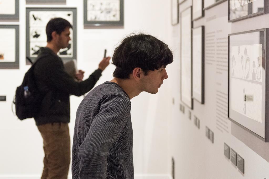 Vue de l'exposition Hugo Pratt, Lignes d'horizons - Musée des Confluences (1)