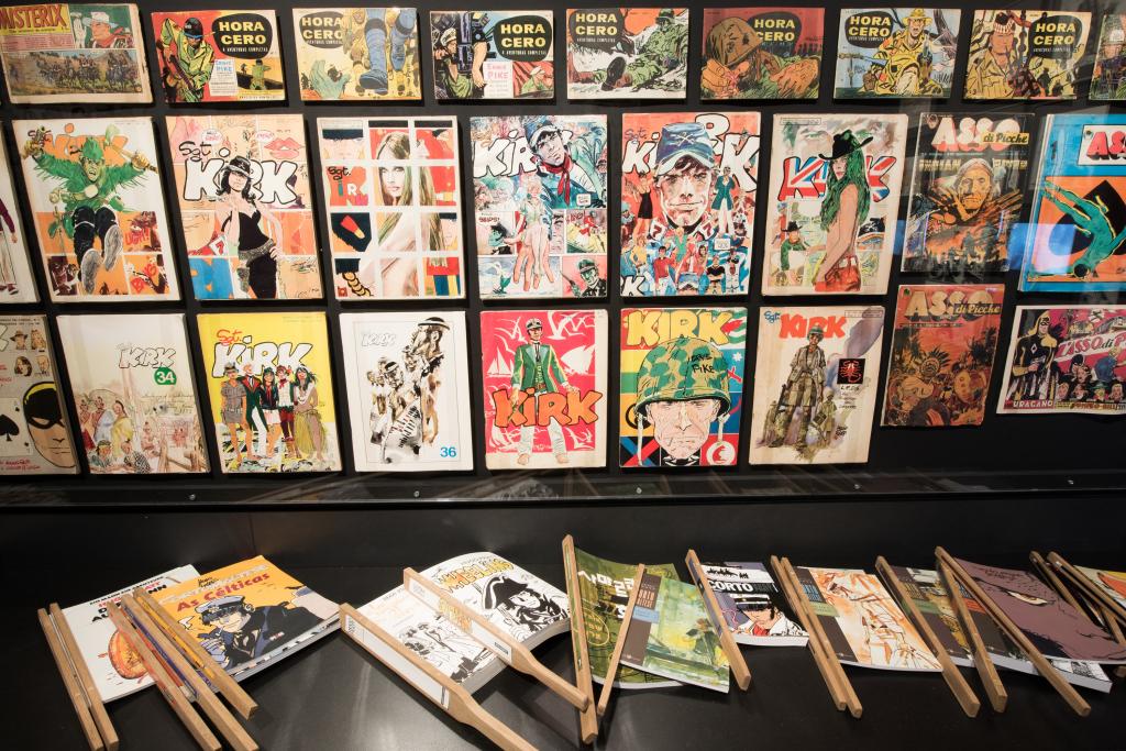 Vue de l'exposition Hugo Pratt, Lignes d'horizons - Musée des Confluences (10)
