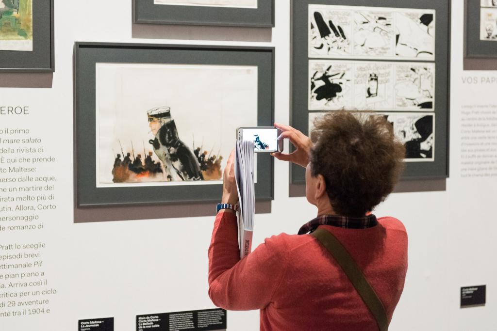 Vue de l'exposition Hugo Pratt, Lignes d'horizons - Musée des Confluences (2)