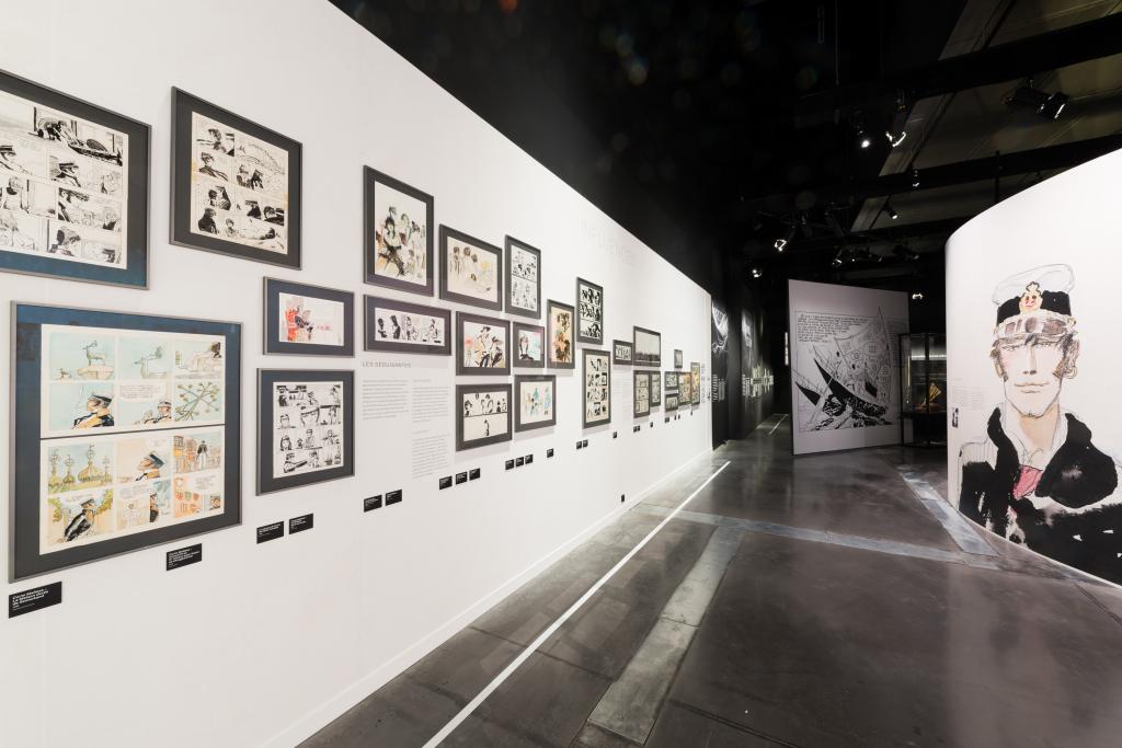 Vue de l'exposition Hugo Pratt, Lignes d'horizons - Musée des Confluences (4)
