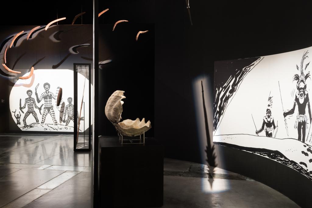Vue de l'exposition Hugo Pratt, Lignes d'horizons - Musée des Confluences (5)