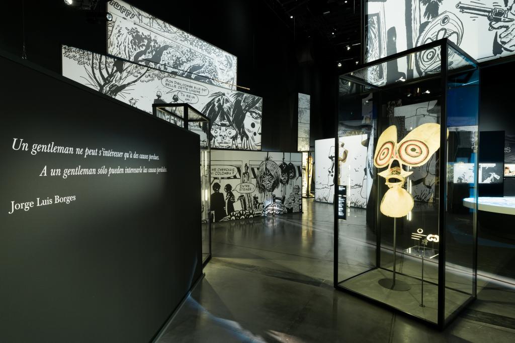 Vue de l'exposition Hugo Pratt, Lignes d'horizons - Musée des Confluences (6)