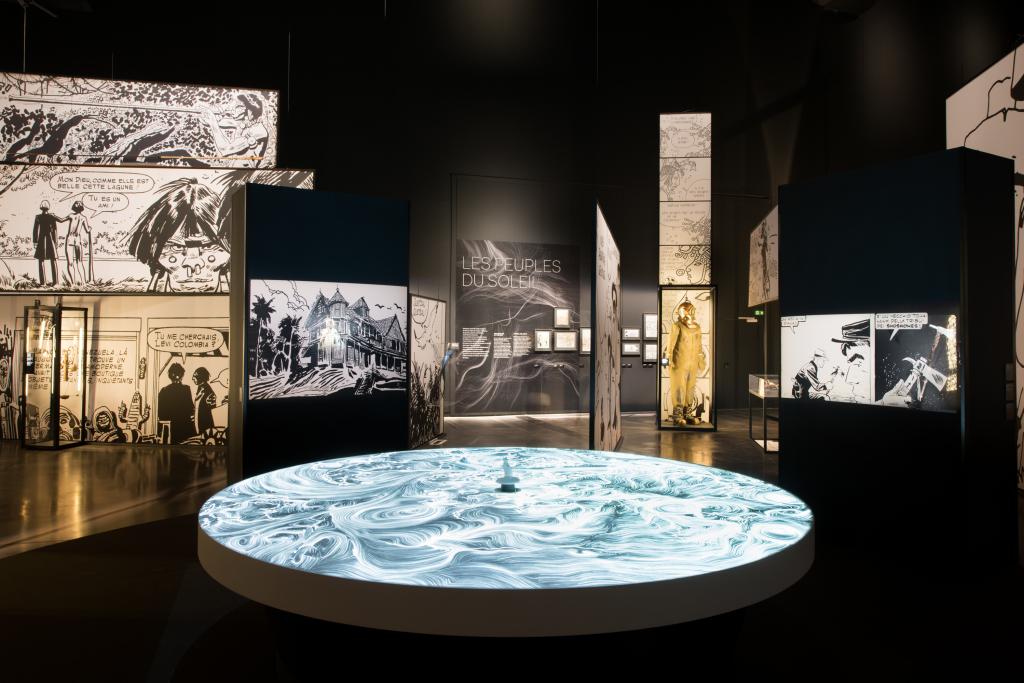 Vue de l'exposition Hugo Pratt, Lignes d'horizons - Musée des Confluences (7)