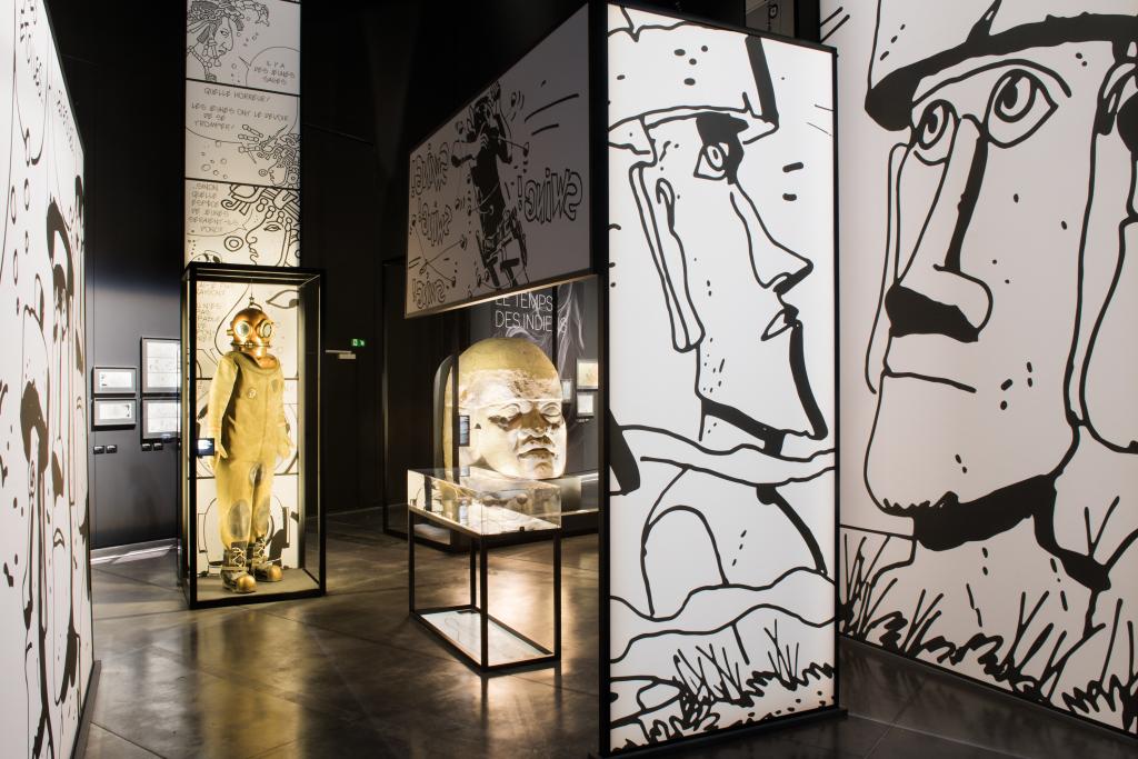 Vue de l'exposition Hugo Pratt, Lignes d'horizons - Musée des Confluences (8)
