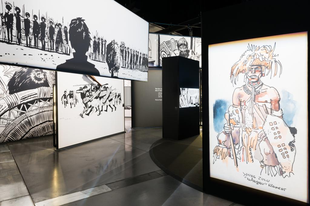 Vue de l'exposition Hugo Pratt, Lignes d'horizons - Musée des Confluences (9)