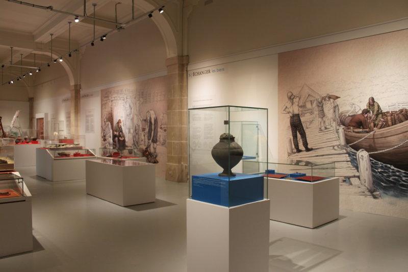 Vue de l'exposition Les Sénons - Musée de Troyes