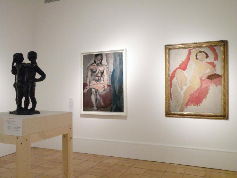 Vue de l'exposition Matisse et Picasso, la comédie du modèle - Musée Matisse, Nice