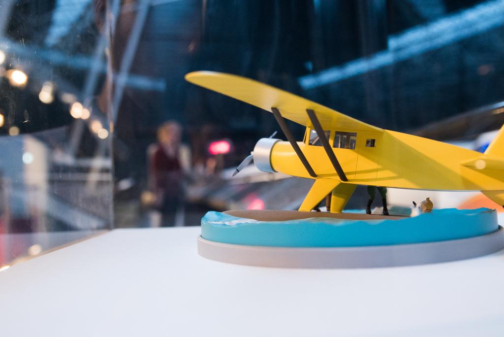 Vue de l'exposition Tintin et ses avions - Musée Aeroscopia, Toulouse (1)