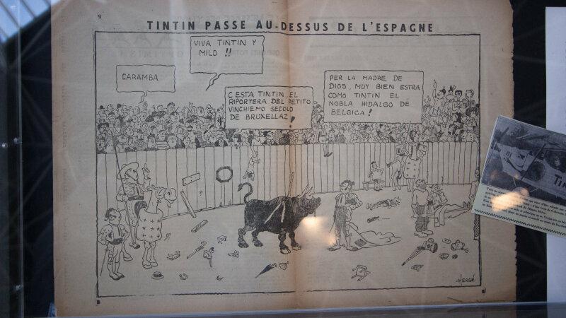 Vue de l'exposition Tintin et ses avions - Musée Aeroscopia, Toulouse (10)