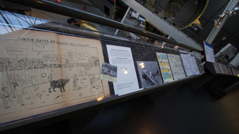 Vue de l'exposition Tintin et ses avions - Musée Aeroscopia, Toulouse (11)
