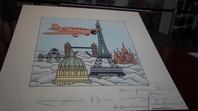 Vue de l'exposition Tintin et ses avions - Musée Aeroscopia, Toulouse (12)