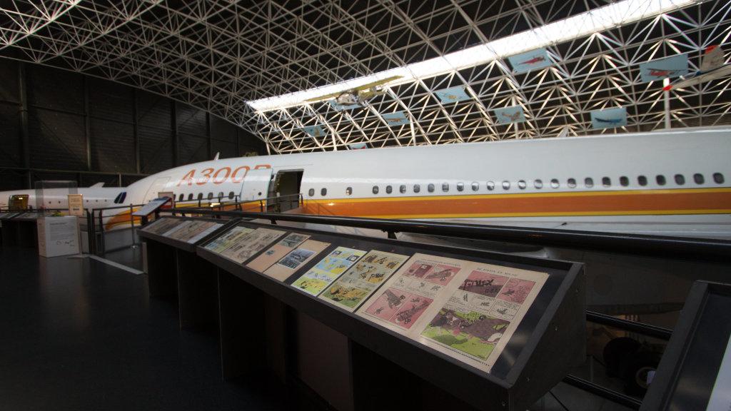 Vue de l'exposition Tintin et ses avions - Musée Aeroscopia, Toulouse (13)