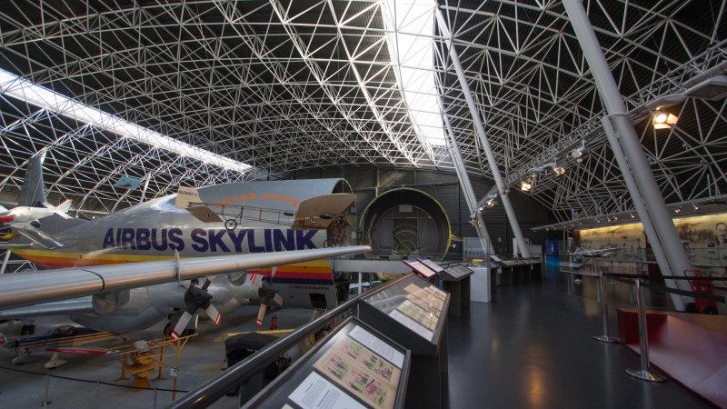 Vue de l'exposition Tintin et ses avions - Musée Aeroscopia, Toulouse (14)