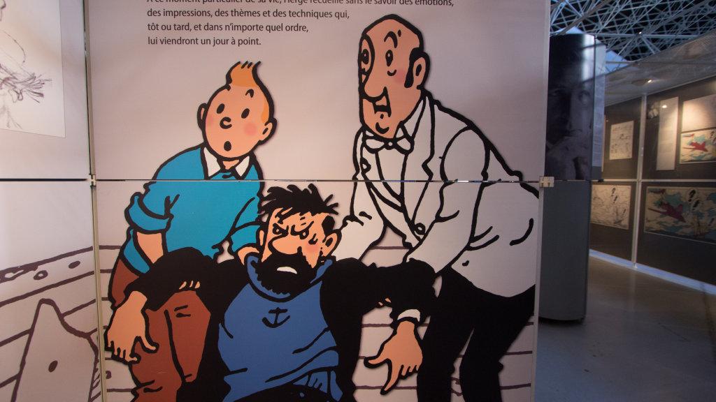 Vue de l'exposition Tintin et ses avions - Musée Aeroscopia, Toulouse (17)