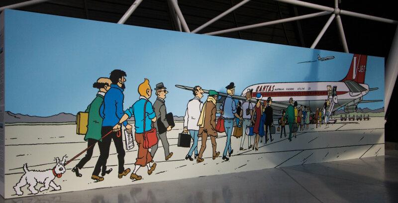 Vue de l'exposition Tintin et ses avions - Musée Aeroscopia, Toulouse (18)