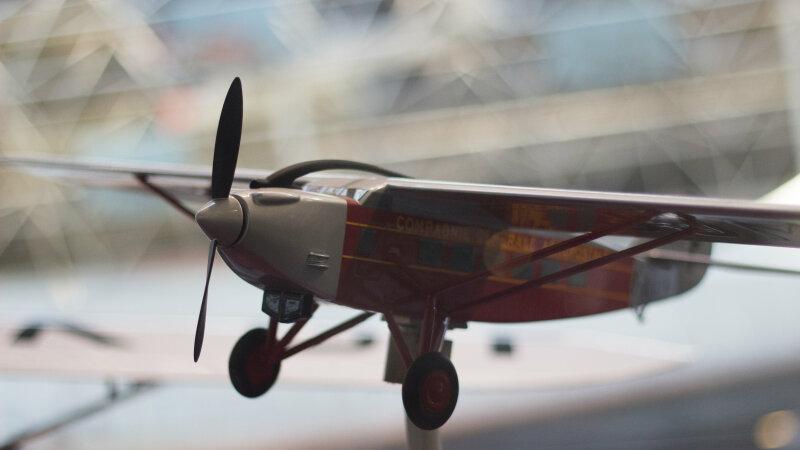Vue de l'exposition Tintin et ses avions - Musée Aeroscopia, Toulouse (19)