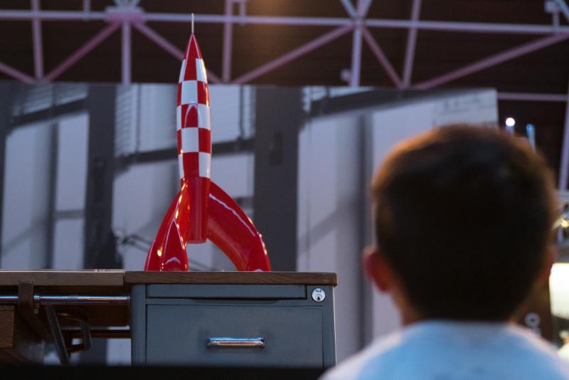 Vue de l'exposition Tintin et ses avions - Musée Aeroscopia, Toulouse (2)