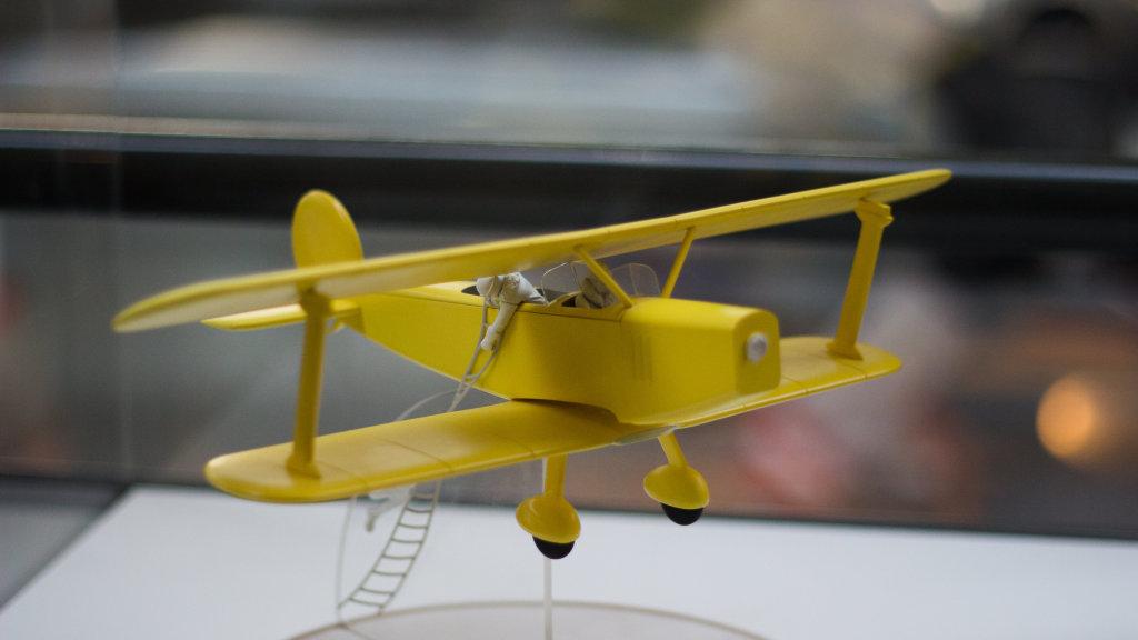 Vue de l'exposition Tintin et ses avions - Musée Aeroscopia, Toulouse (20)
