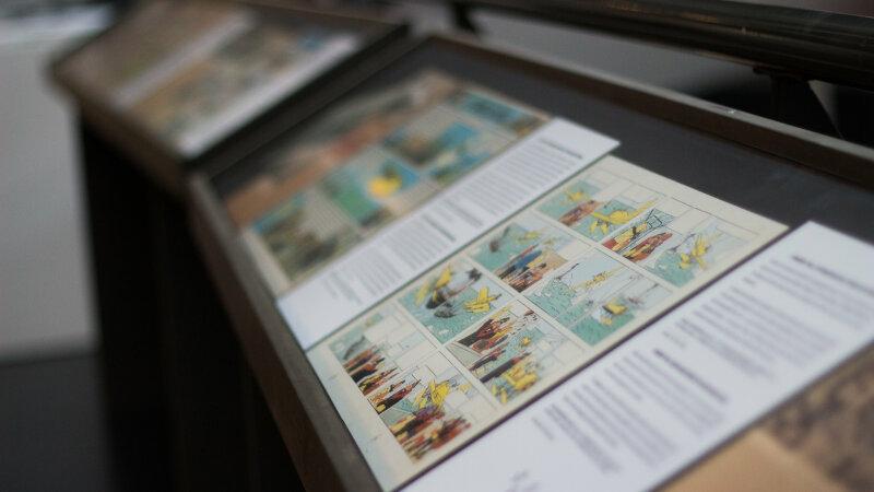 Vue de l'exposition Tintin et ses avions - Musée Aeroscopia, Toulouse (22)