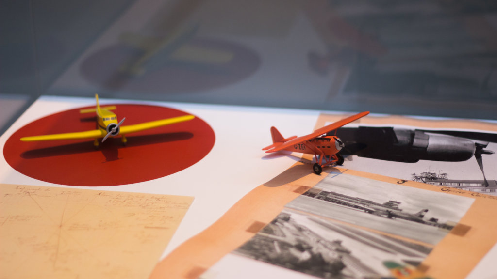 Vue de l'exposition Tintin et ses avions - Musée Aeroscopia, Toulouse (24)