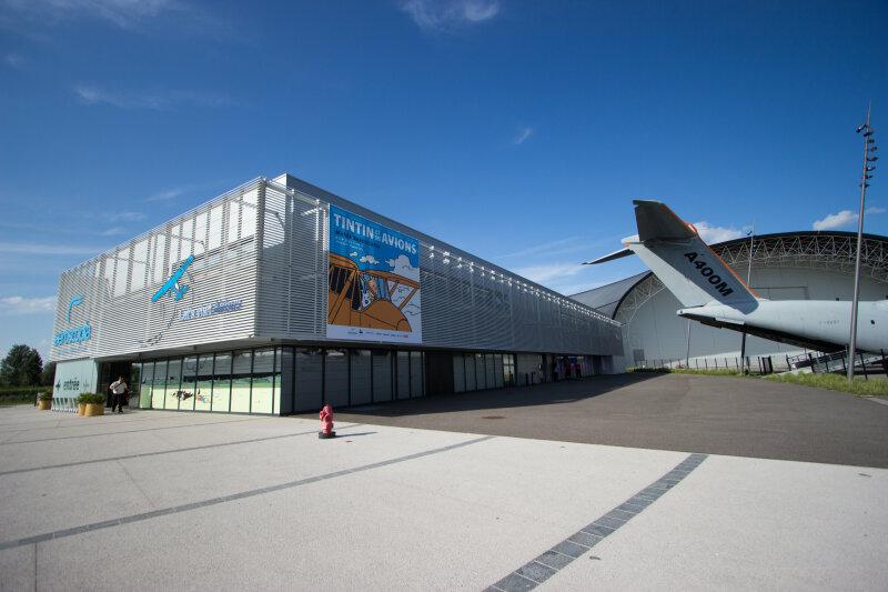 Vue de l'exposition Tintin et ses avions - Musée Aeroscopia, Toulouse (3)