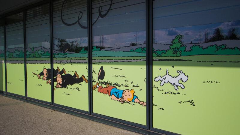 Vue de l'exposition Tintin et ses avions - Musée Aeroscopia, Toulouse (4)
