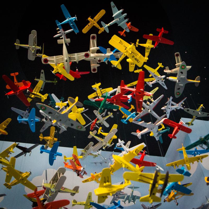 Vue de l'exposition Tintin et ses avions - Musée Aeroscopia, Toulouse (7)