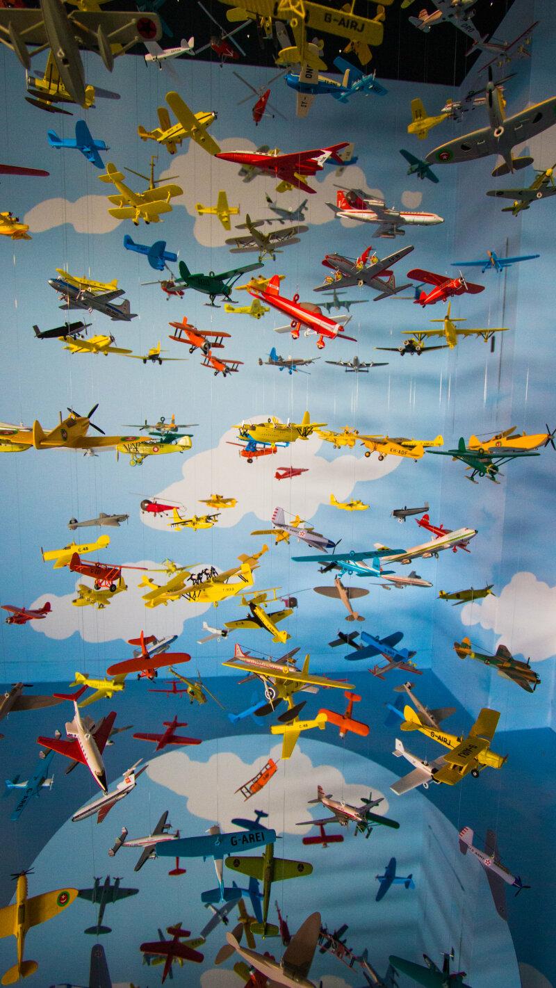 Vue de l'exposition Tintin et ses avions - Musée Aeroscopia, Toulouse (8)