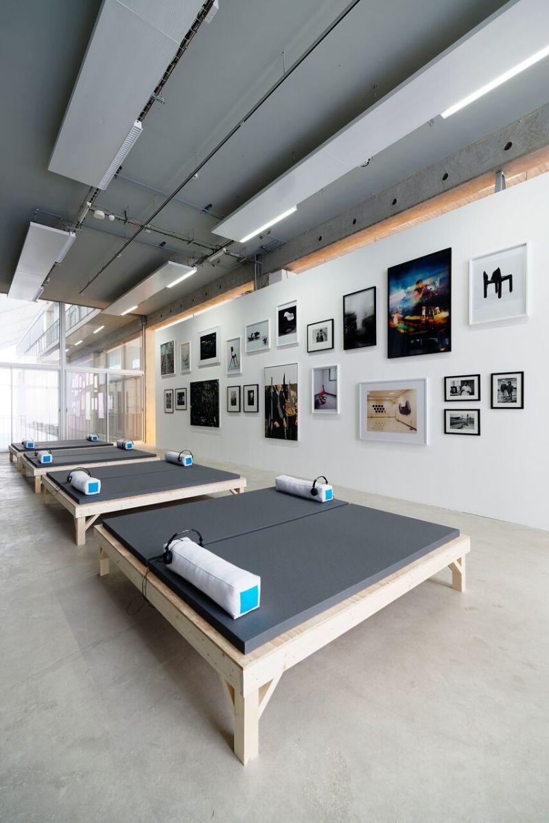 Vue de l'exposition Tubologie au FRAC Grand Large