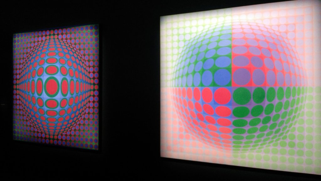 Vue de l'exposition Vasarely au Centre Pompidou, Paris (147)