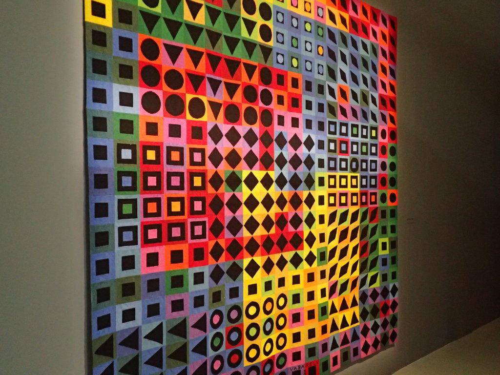 Vue de l'exposition Vasarely, Centre Pompidou, Paris