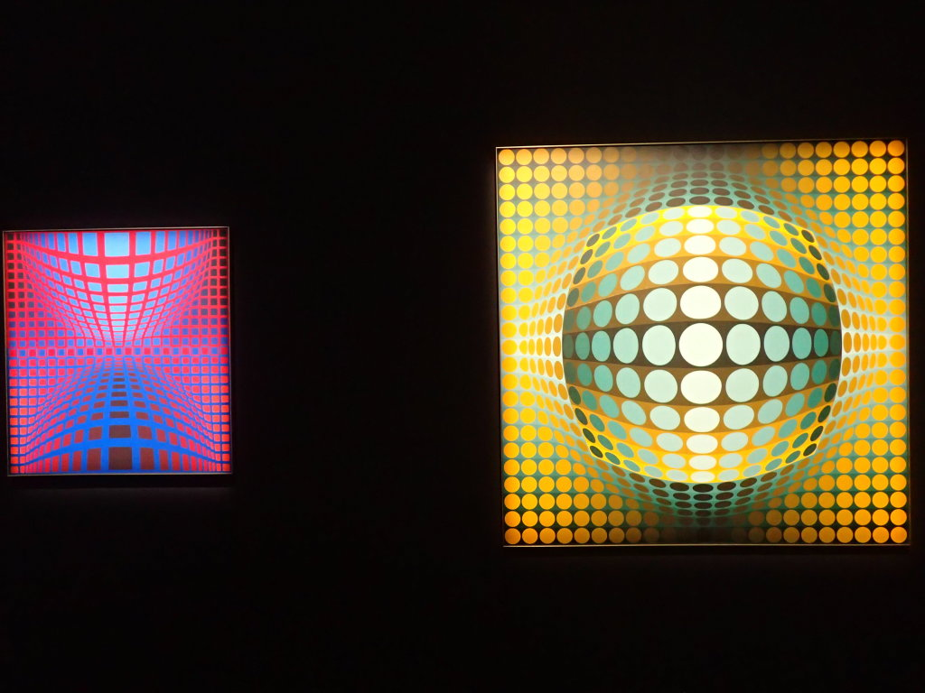 Vue de l'exposition Vasarely, Centre Pompidou, Paris