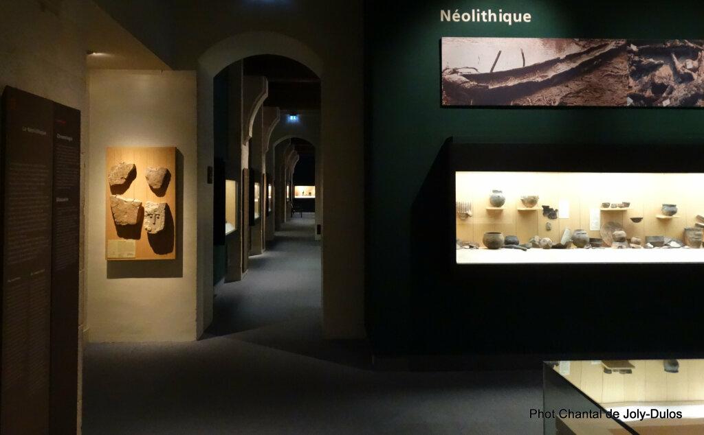 Vue des collections permanentes - Musée national d'archéologie, Saint Germain en Laye (35)