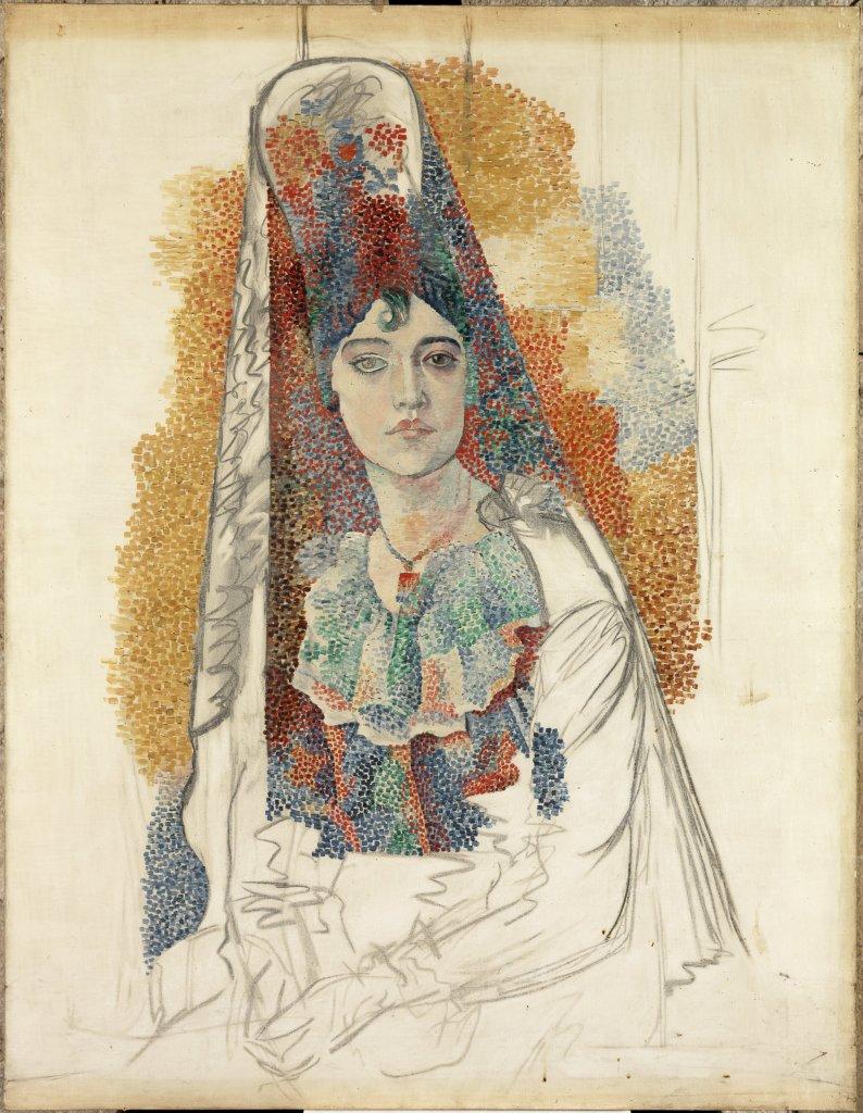 Pablo Picasso Femme à la Mantille [Fatma] - Picasso Picabia au Musée Granet à Aix-en-Provence.