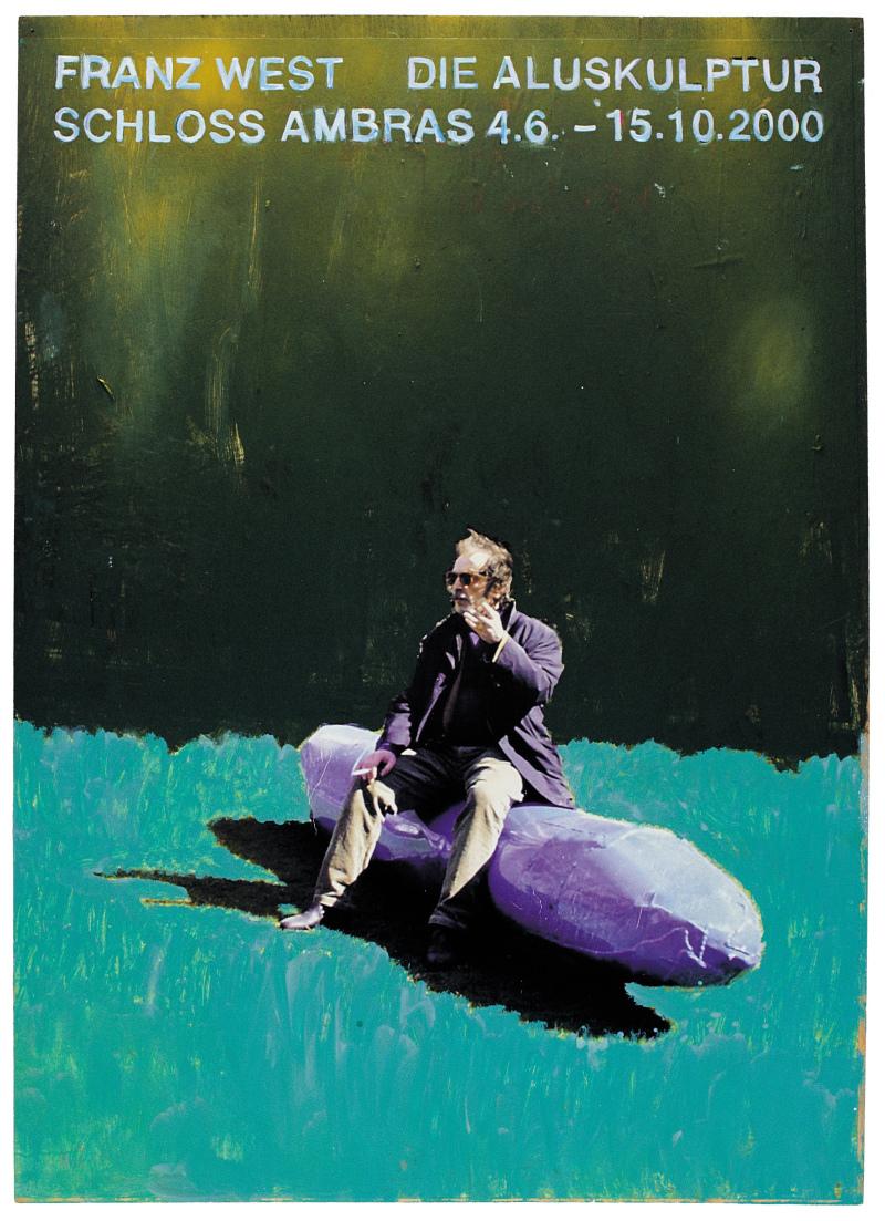11. Franz West, Plakatentwurf (Die Aluskulptur) - 2000