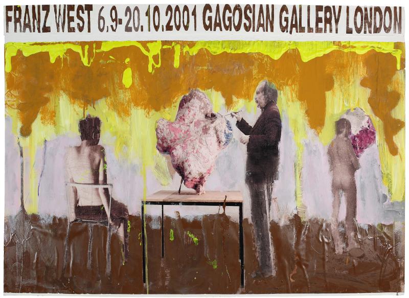 14. Franz West, Plakatentwurf (Gagosian Gallery) - 2001