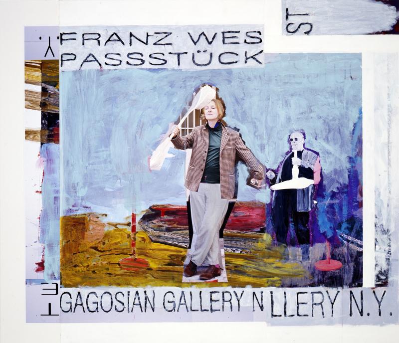 18. Franz West, Plakatentwurf (Passstücke, Gagosian Gallery NY) - 2008