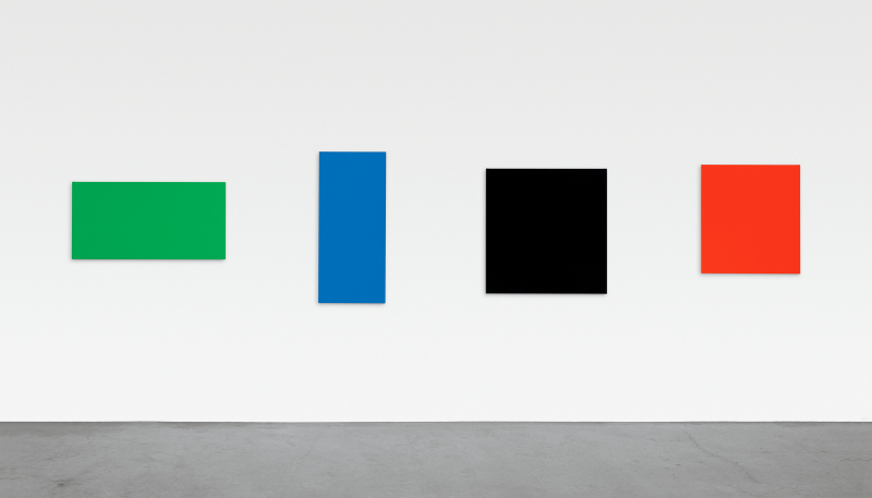 Ellsworth Kelly, Green Blue Black Red, 2007