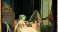 """Jean-Frédéric Schall (1752-1825). """"L'Amour frivole, vers 1785"""". Huile sur panneau de bois parqueté, vers 1780. Paris, musée Cognacq-Jay."""