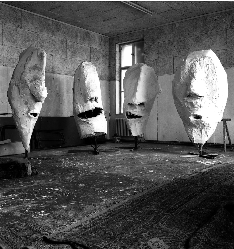 8. Lemurenkopfe in Franz West's studio in Vienna - 1992