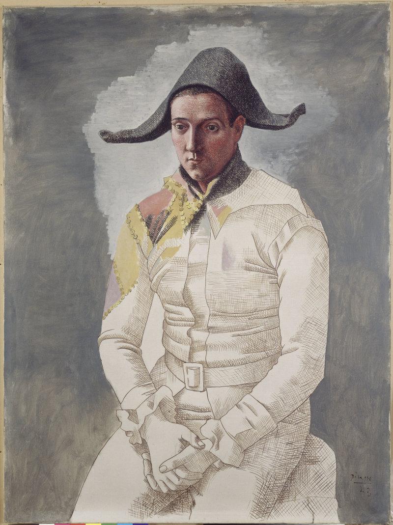 Arlequin ou le peintre Salvado en arlequin