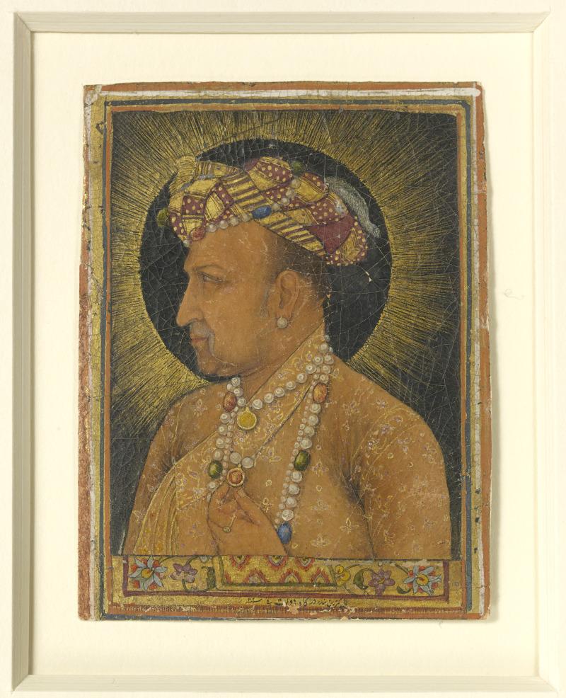 Portrait en buste de l'empereur Jahangir, Inde, début du XVIIIe siècle
