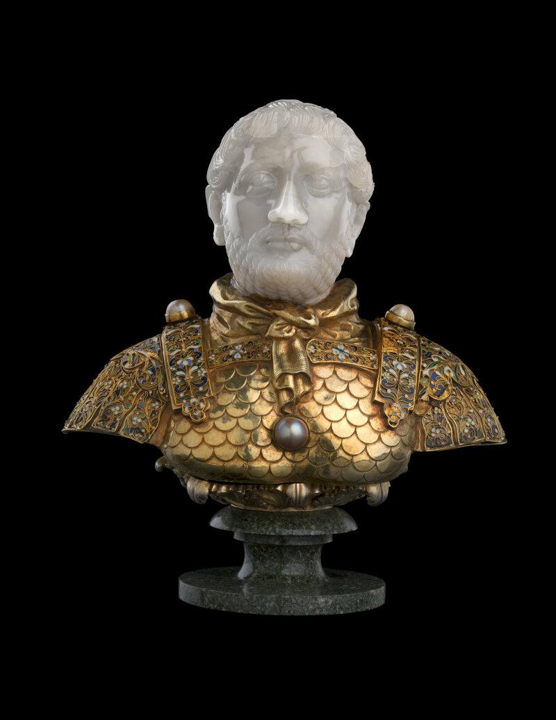 Tête de l'Empereur Hadrien, Italie, 1240 / montée vers 1550-1600