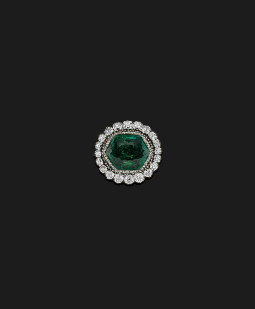 Broche en émeraude et diamants de Catherine II de Russie, XVIIIe siècle