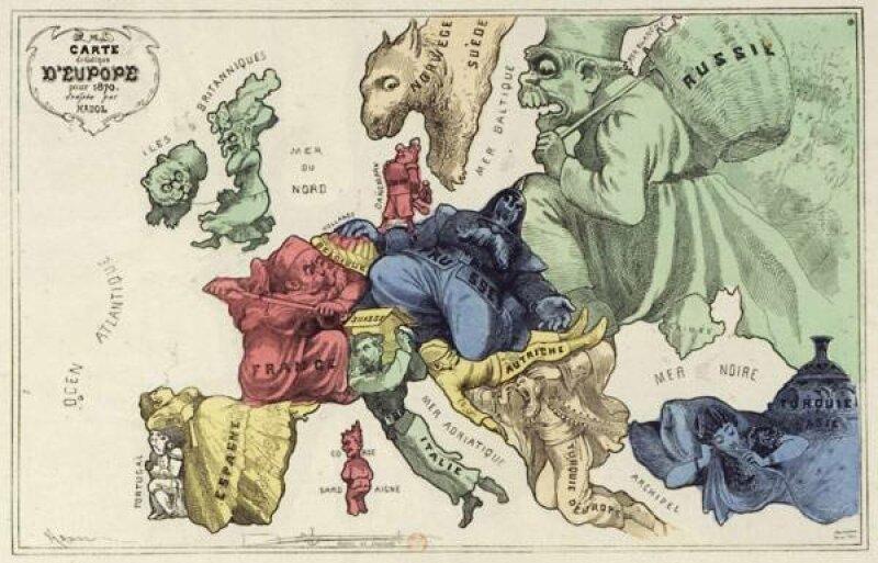 La géographie en caricature